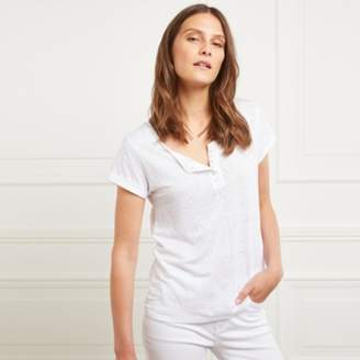 The White Company Linen Henley Top