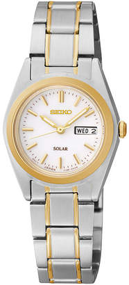 Seiko Womens Two-Tone Stainless Steel Solar Bracelet Watch SUT108