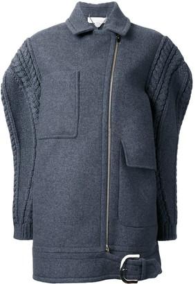 Stella McCartney oversize knit sleeve coat