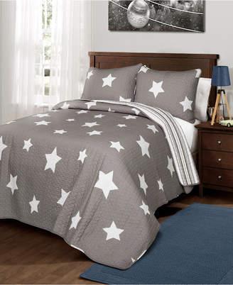 Lush Decor Star Reversible 3-Pc. King Quilt Set