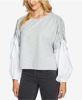 1 STATE 1.STATE Blouson-Sleeve Sweatshirt