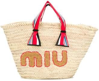 Miu Miu straw tote bag