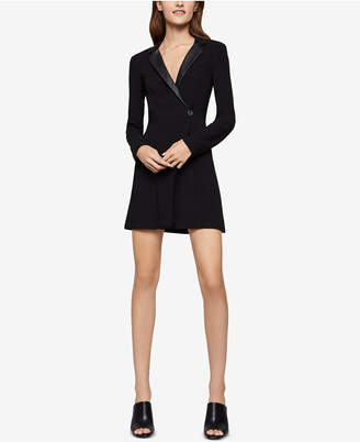 BCBGeneration Faux-Leather-Trim Blazer Dress