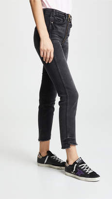 McGuire Denim Slim Jeans with Exposed Zippers