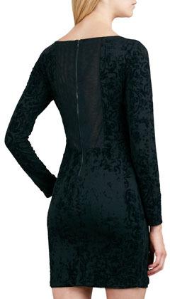 Alice + Olivia Tabitha Fitted Velvet Dress