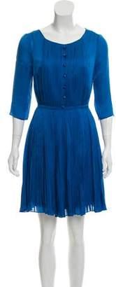 Temperley London Pleated Silk Dress