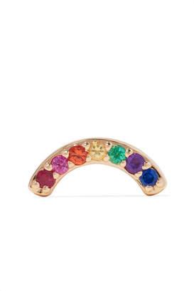 Andrea Fohrman 14-karat Gold Multi-stone Earring