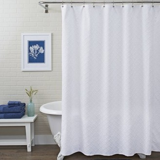 Better Homes & Gardens White Shells Shower Curtain, 1 Each