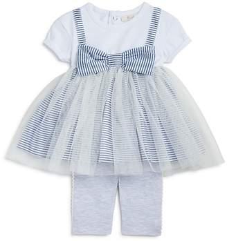 Miniclasix Girls' Striped Tutu Shirt Dress & Capri Leggings Set - Baby