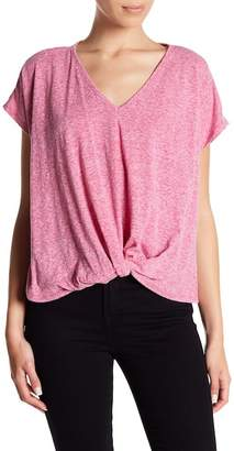 Bobeau Knotted Front Tee (Petite)