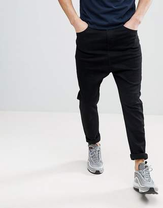 Asos DESIGN Drop Crotch Jeans In Black