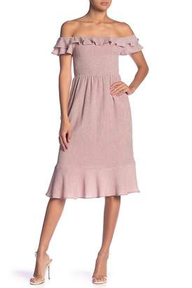 Endless Rose Smocked Cap Sleeve Dress