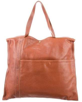 Il Bisonte Leather Flat Tote