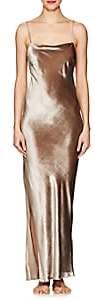 Fleur Du Mal Women's Velvet Long Slip - Mushroom Velvet 0337