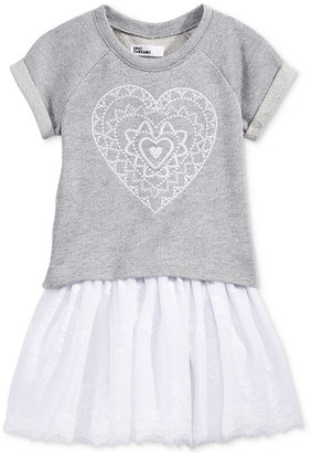Epic Threads 2-Pc. Heart Sweatshirt & Ballerina Dress Set, Toddler & Little Girls (2T-6X), Only at Macy's $30 thestylecure.com