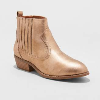Universal Thread Women's Metallic Western Ankle Boots