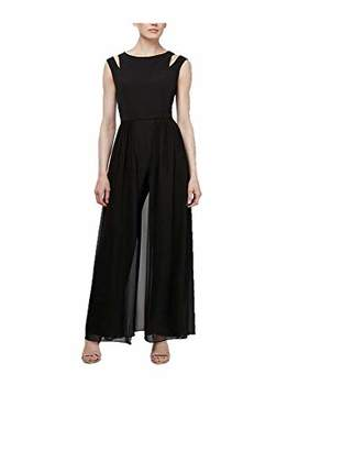 SL Fashions Women's Short Sleeveless Ruched Jumpsuit Romper