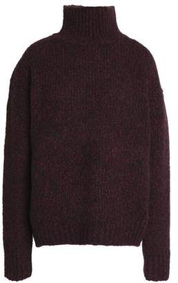 Vince Marled Wool Cashmere And Silk-Blend Turtleneck Sweater