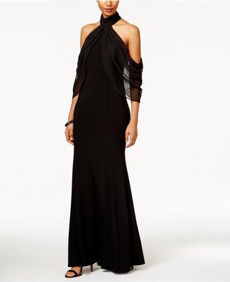 Xscape Mock-Neck Cold-Shoulder Gown $229 thestylecure.com