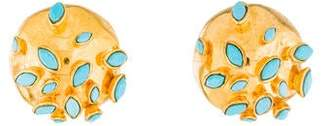 Alexis Bittar Synthetic Turquoise Dome Clip-On Earrings