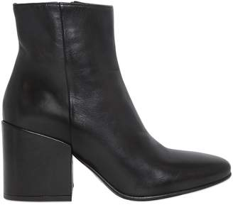 Strategia 70mm Smooth Leather Ankle Boots