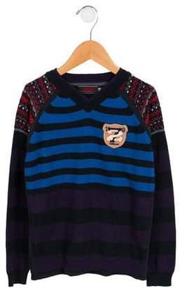 Catimini Boys' Layered Striped Sweater