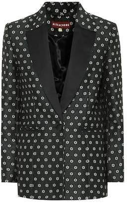 ALEXACHUNG Floral jacquard blazer
