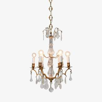 ABC Home Vintage Crystal & Brass Chandelier