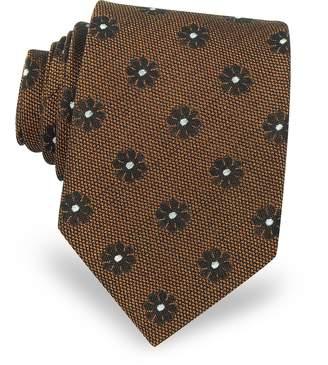 Forzieri Pure Silk Woven Floral Pattern Men's Tie