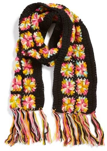 Nirvanna Designs Crochet Flower Scarf