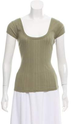 Frame Short-Sleeve Knit Top w/ Tags