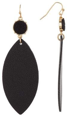 Panacea Druzy Faux Leather Drop Earrings