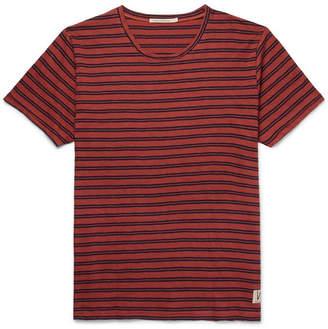 Nudie Jeans Anders Striped Slub Organic Cotton-Jersey T-Shirt