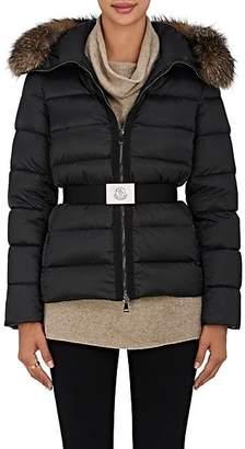 Moncler Women's Tatie Fur-Trimmed Down Coat - Black