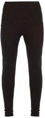 Falke Ess - Thermal Wool Blend Leggings - Mens - Black