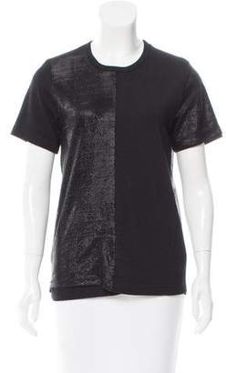 Junya Watanabe Crew Neck Overlay-Accented Top $125 thestylecure.com