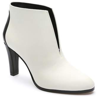 Tahari Meredith Leather Notch Bootie