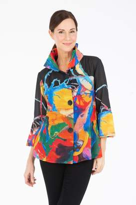 Damee Watercolor Chiffon Jacket