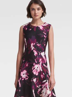 DKNY Floral Fit-And-Flare Dress