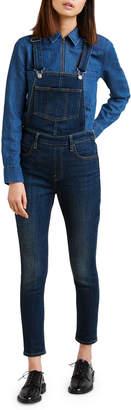Levi's Premium Cropped Skinny-Leg Denim Overalls