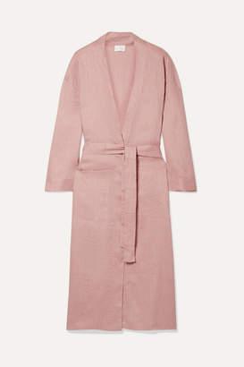 Pour Les Femmes - Linen Robe - Antique rose