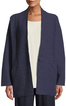 Eileen Fisher Lightweight Boiled Wool Kimono Jacket, Plus Size
