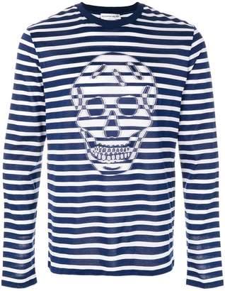 Alexander McQueen skull striped T-shirt