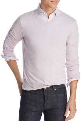 Bloomingdale's The Men's Store at V-Neck Cotton-Cashmere Sweater - 100% Exclusive