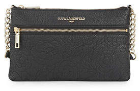 Karl Lagerfeld PARIS Marina Leather Crossbody Bag
