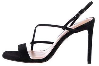 Halston Suede Strap Sandals