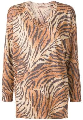 Twin-Set tiger print sweater