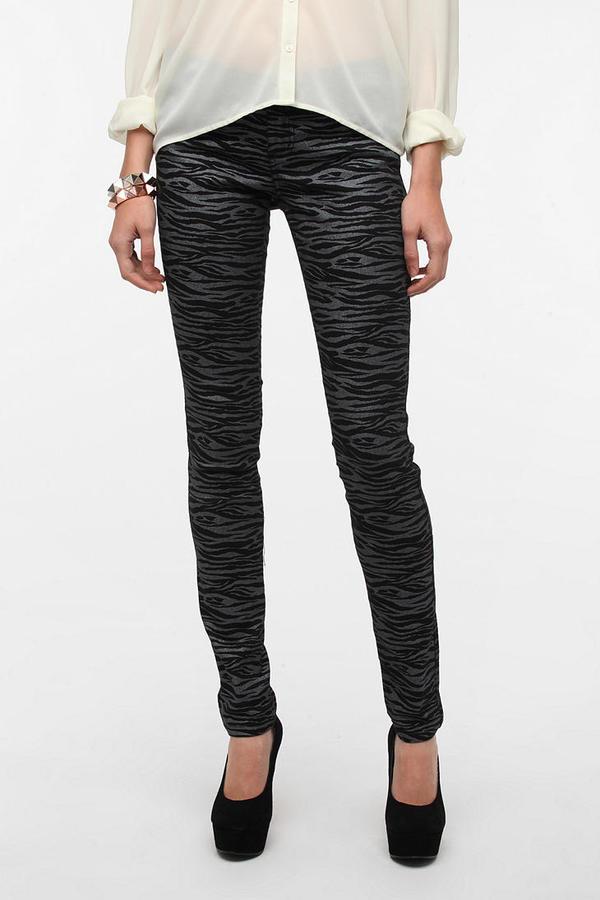 Tripp NYC Metallic Zebra Skinny Jean