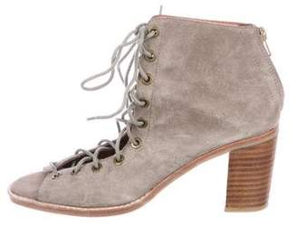 Jeffrey Campbell Suede Lace-Up Booties