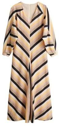 MANGO Multicolor striped dress